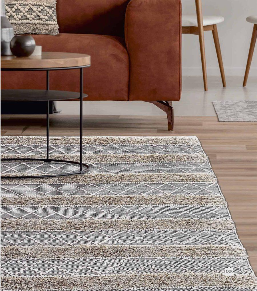 בוהו שטיח עבודת יד בשילוב אריגה 100% כותנה