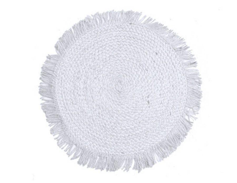 פלייסמנט לבן חבל טבעי בוהו שיק