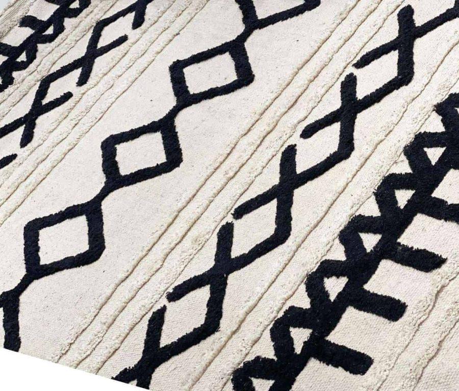 שטיח כותנה בוהו שיק דלתא