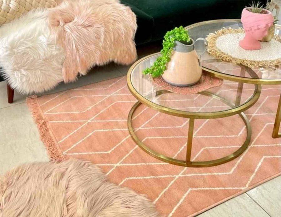 שטיח ורוד לסלון דגם מרקש