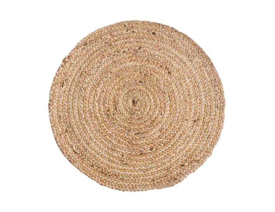 שטיח חבל טבעי בוהו שיק עגול