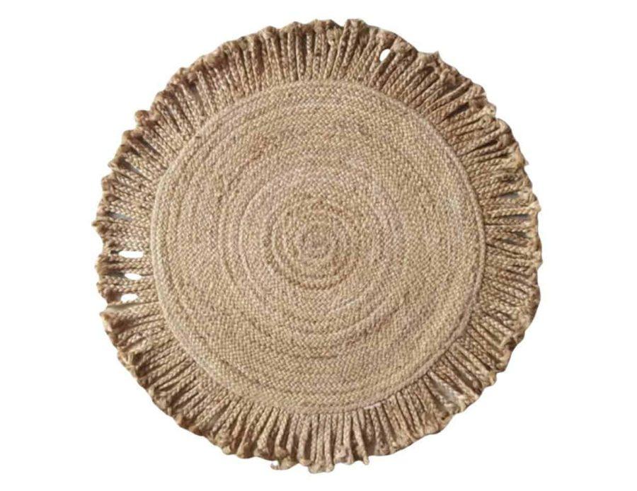 שטיח חבל עיטור צמות בוהו שיק