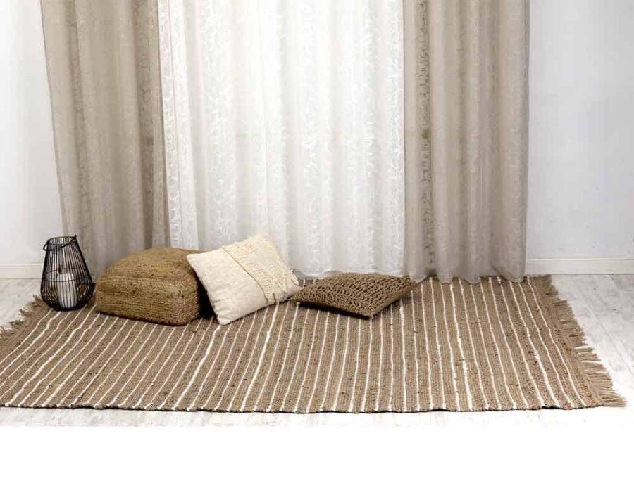 שטיח חבל פסים לבנים = שביט