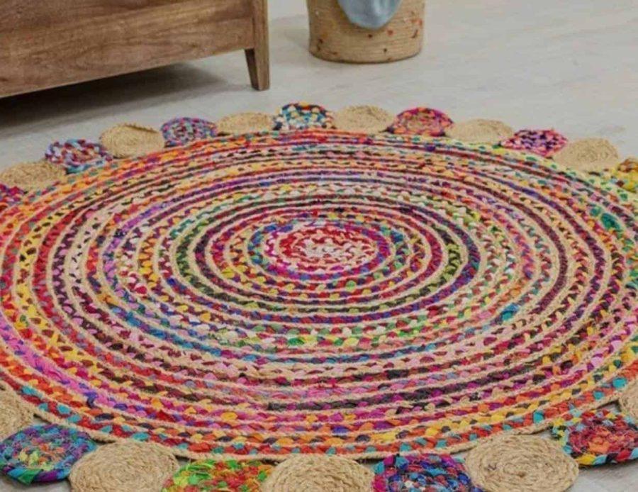 שטיח חבל צבעוני