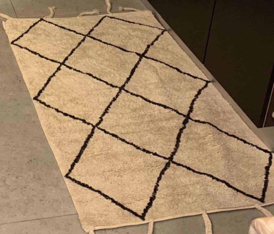 שטיח יהלום כותנה בוהו שיק מעויינים יהלומים