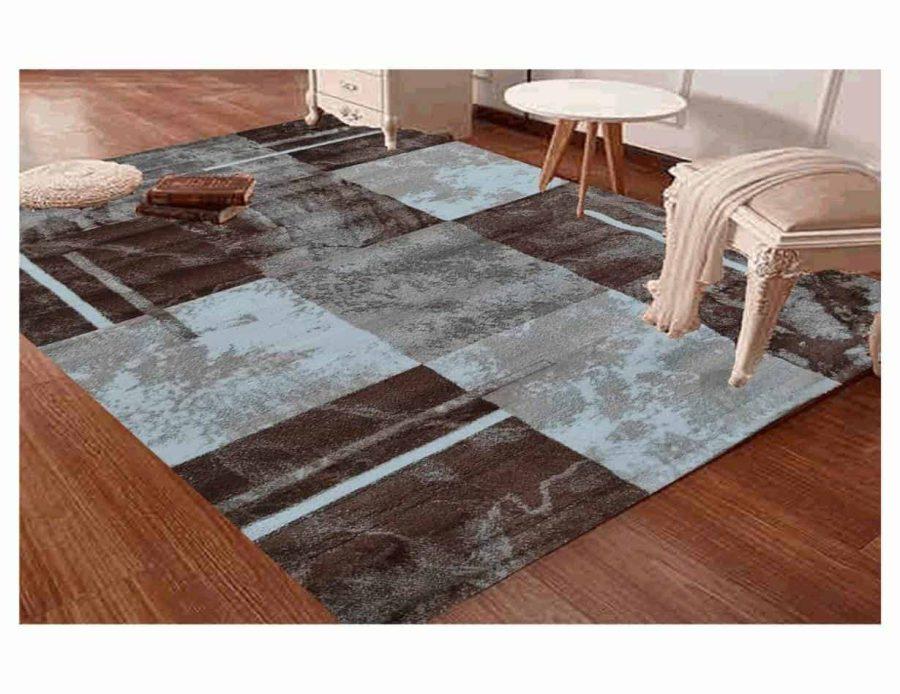 שטיח מודרני לסלון N1453A חום