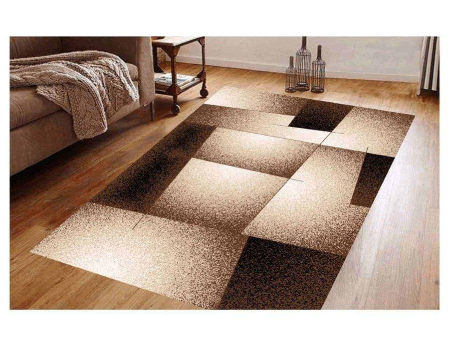 שטיח מודרני לסלון N5287A-חום