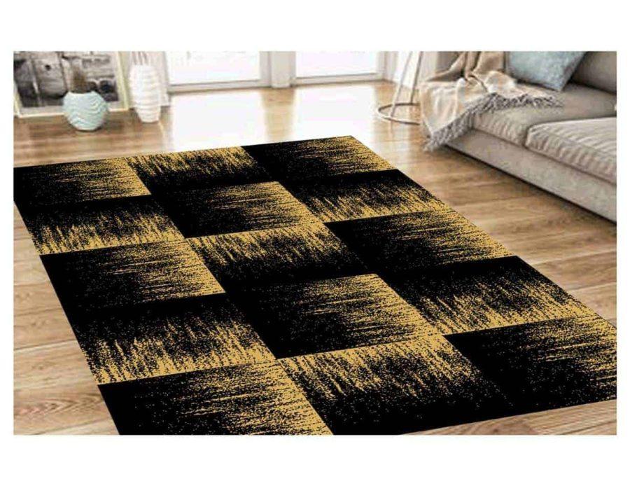 שטיח מודרני לסלון N1452A שחור זהב