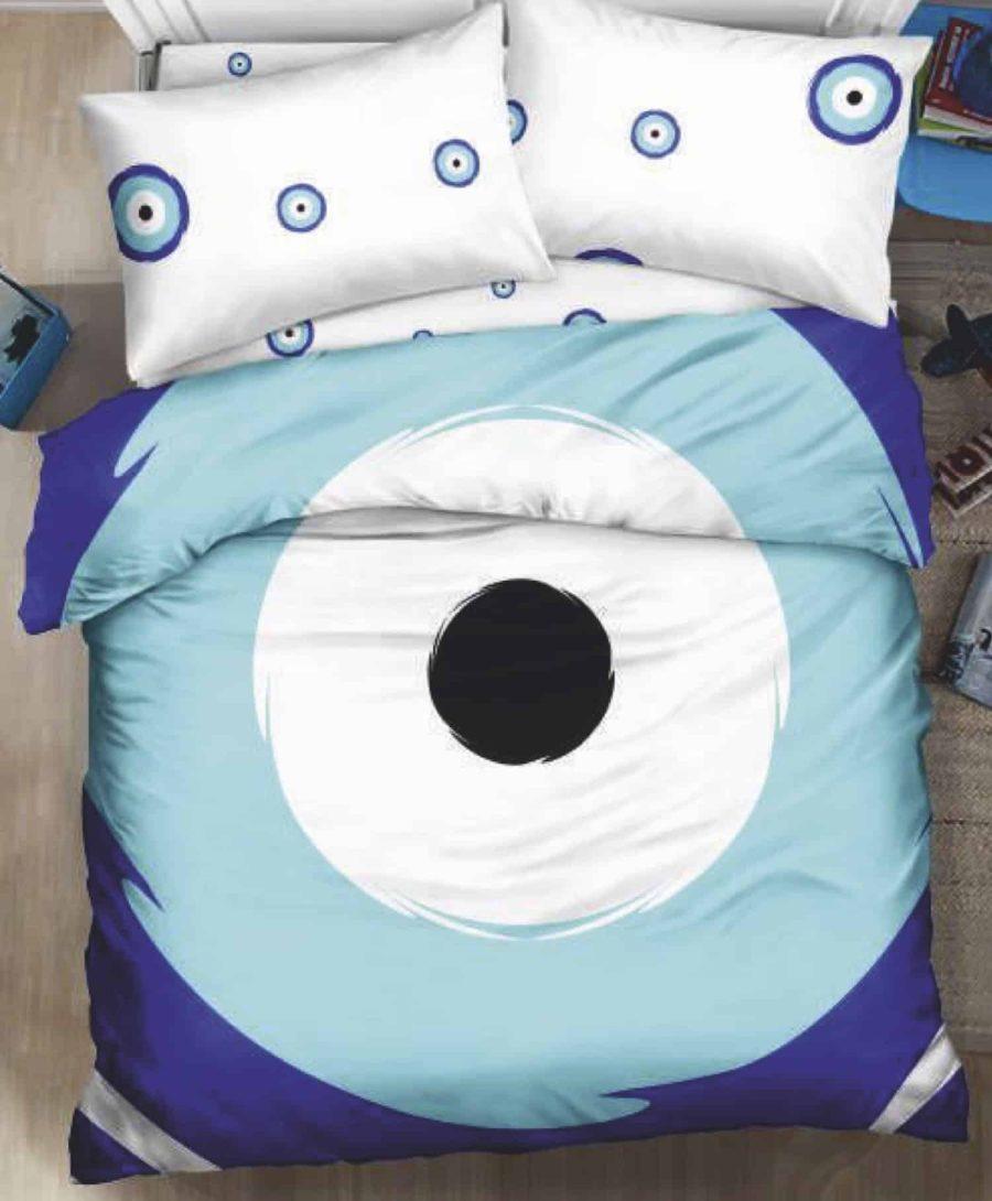מצעים למיטה זוגית עין הרע אמונה01