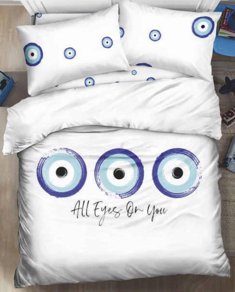 מצעים למיטה זוגית עין הרע אמונה02