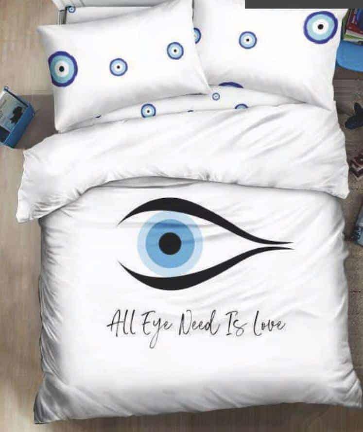 מצעים למיטה זוגית עין הרע אמונה03