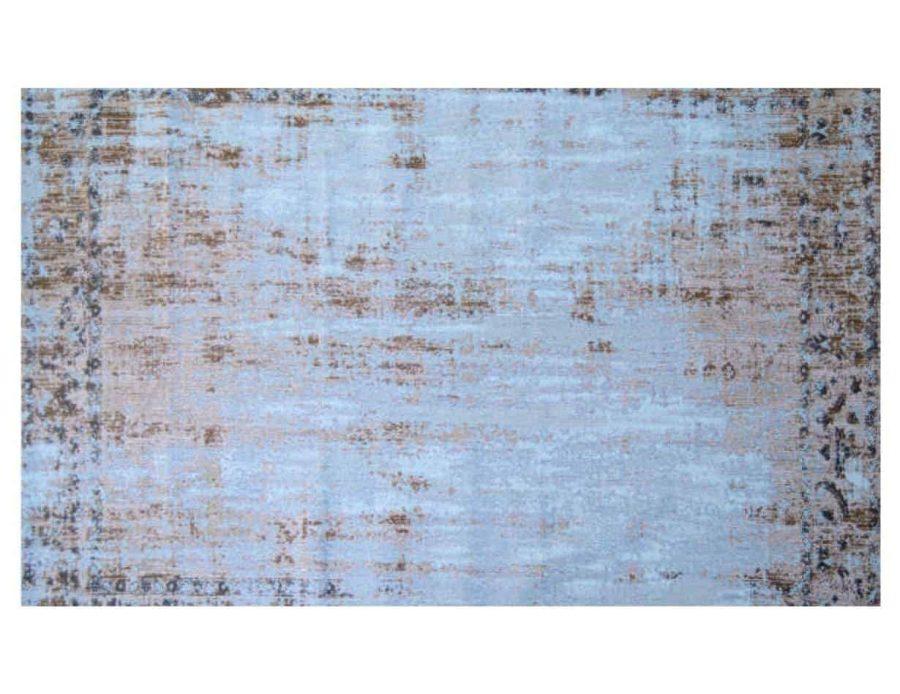 שטיח גסטון טורקיז חום כותנה