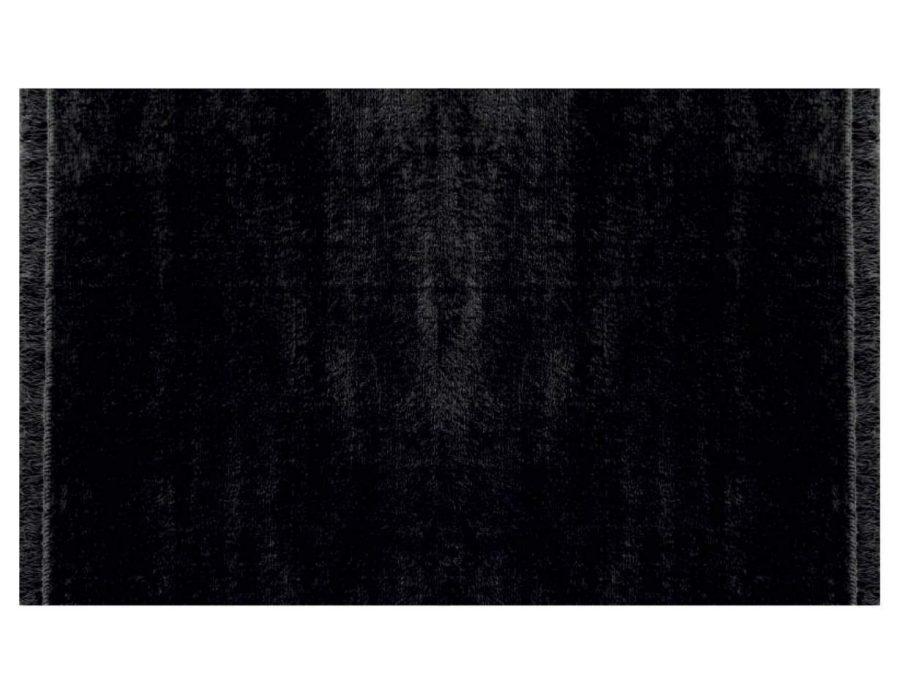 דומיניק שטיח פרווה שחור