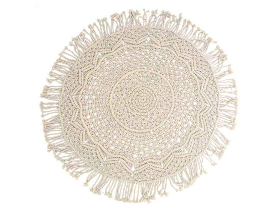 דוסנטוס שטיח מקרמה עבודת יד טבעי