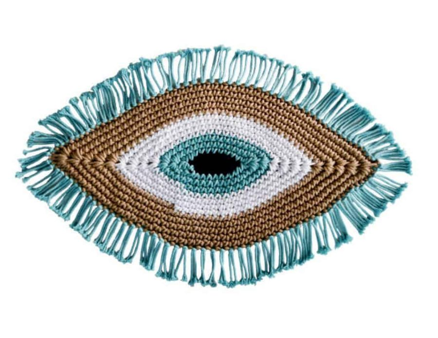 שטיח חמסה עבודת יד טורקיז