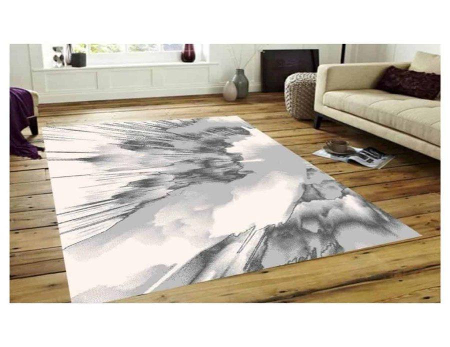 שטיח מודרני לבן אפור NO16