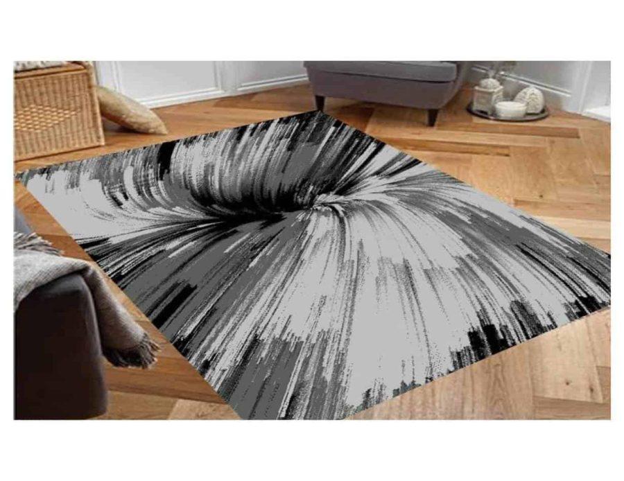 שטיח מודרני אפור שחור NO24
