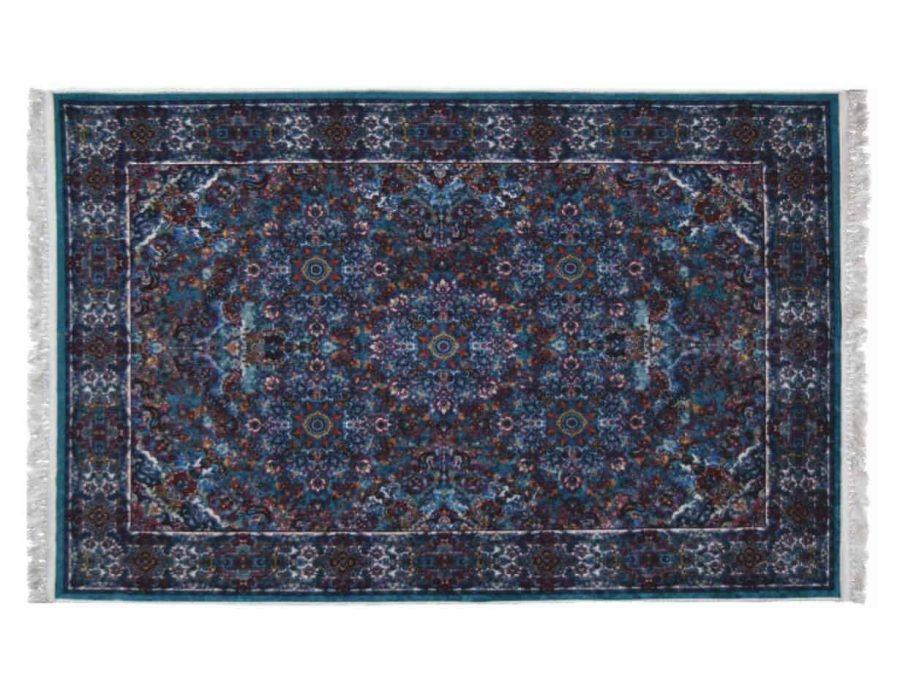 שטיח טורקיז קלאסי רייאן מלבן