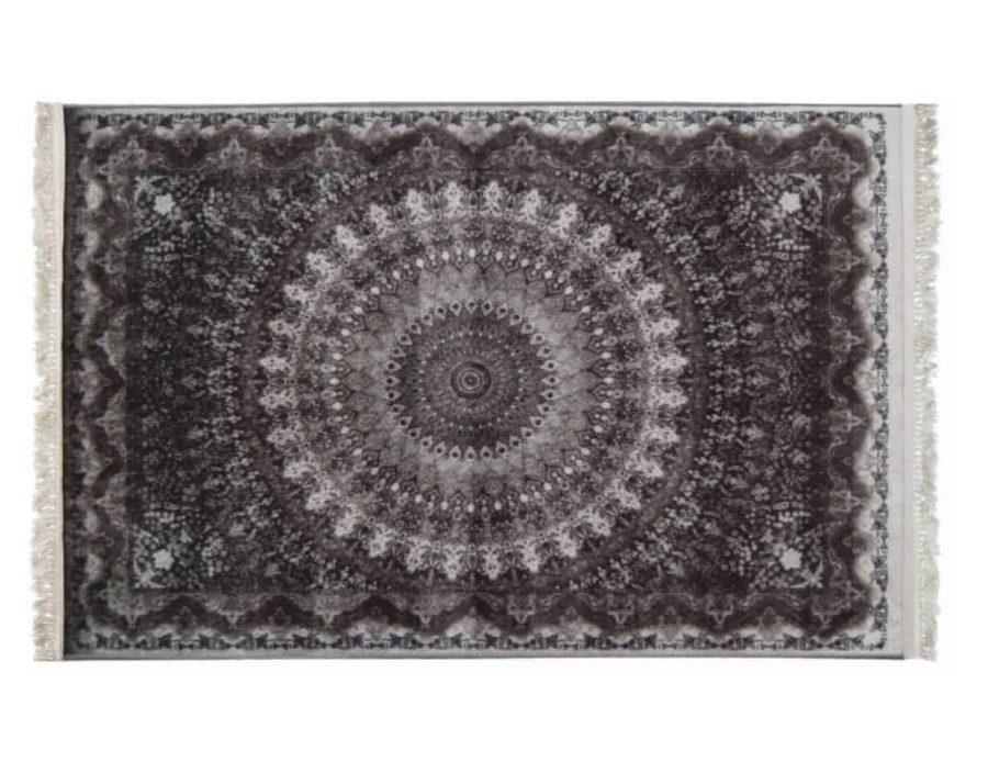 שטיח שחור קלאסי רייאן מלבן