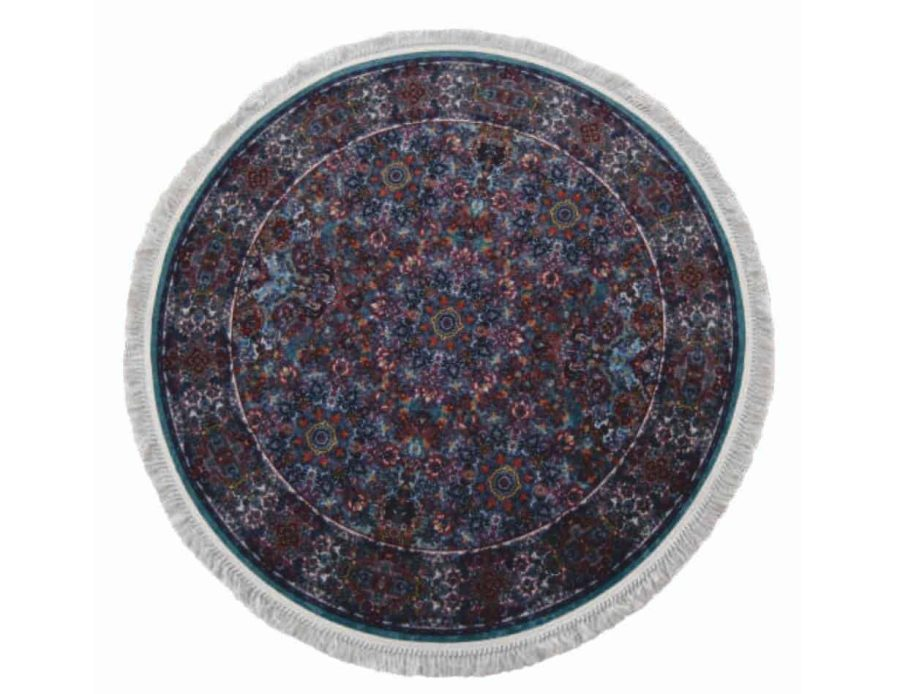 שטיח טורקיז קלאסי רייאן עגול