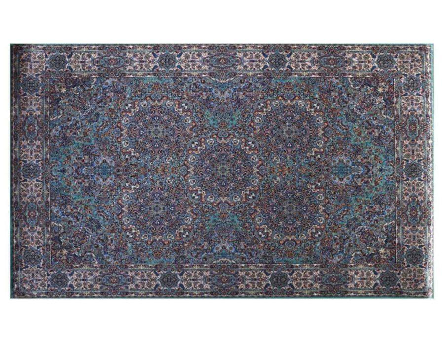 סוהו שטיח טורקיז חום