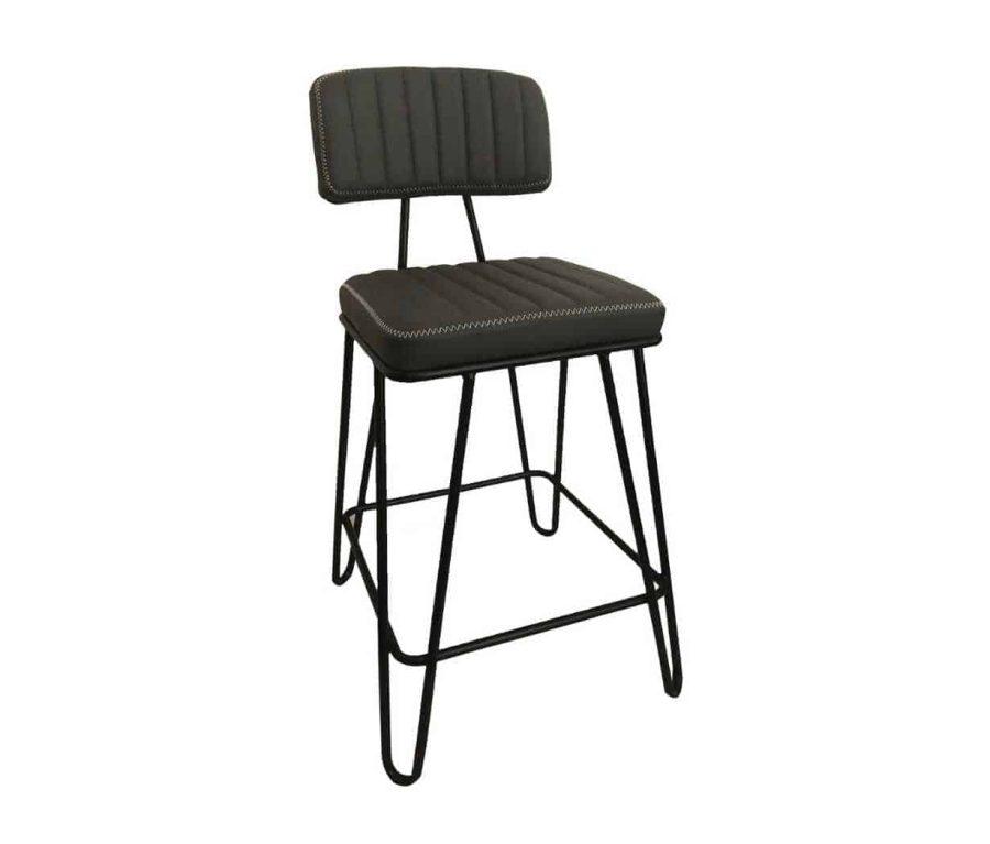 כיסא בר אפור