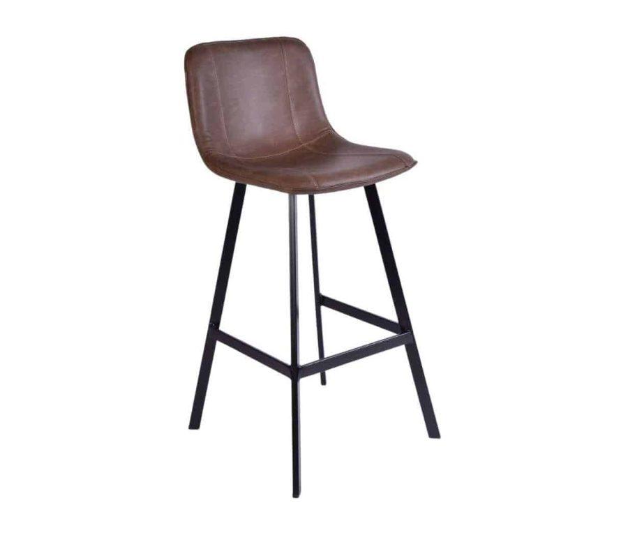 כיסא בר חום מוקה