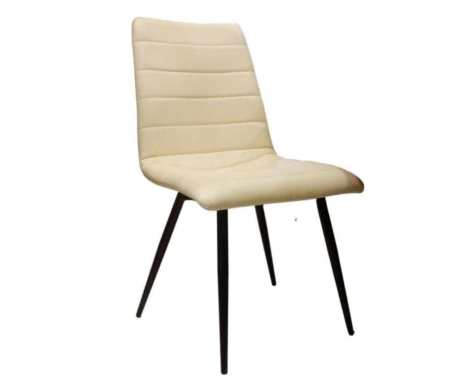כיסא עור לבן