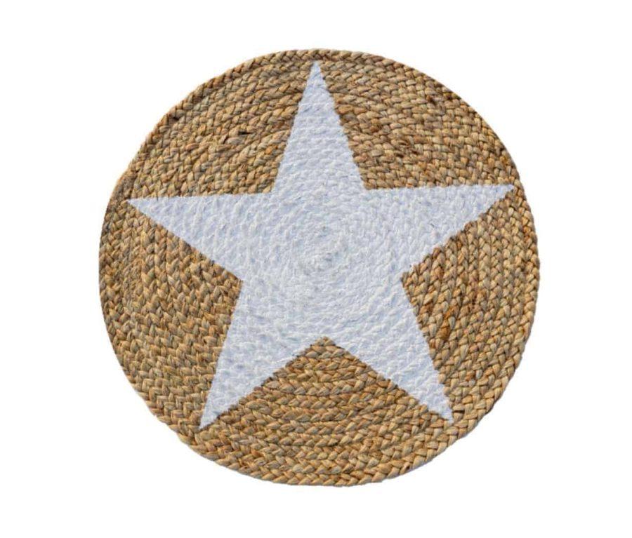 פלייסמנט לשולחן בעיצוב כוכב שחור - סגנון בוהו שיק כפרי