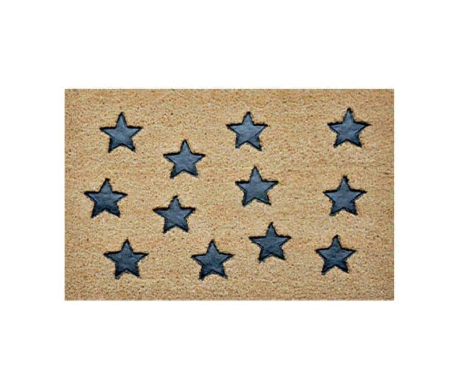שטיח כניסה לבית קוקוס איכותי - הום סטיילינג - כוכבים