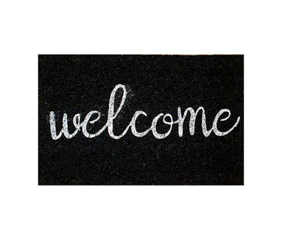 שטיח welcome כניסה לבית קוקוס איכותי - הום סטיילינג - שחור