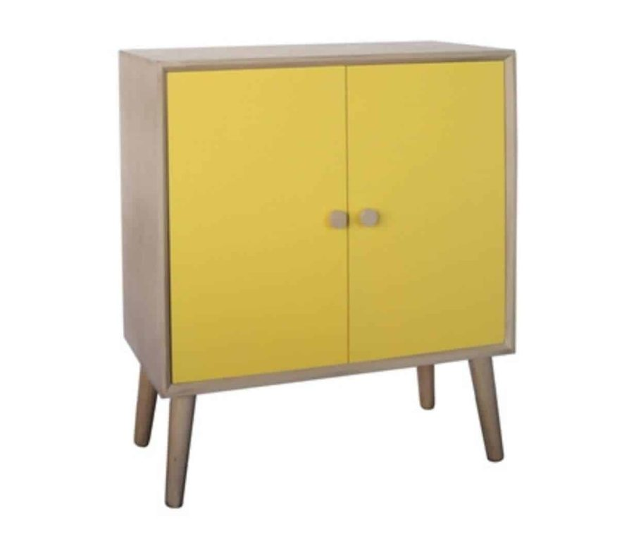 שידה צהובה 2 דלתות