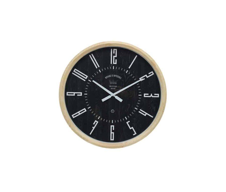 שעון קיר שחור קלאסי