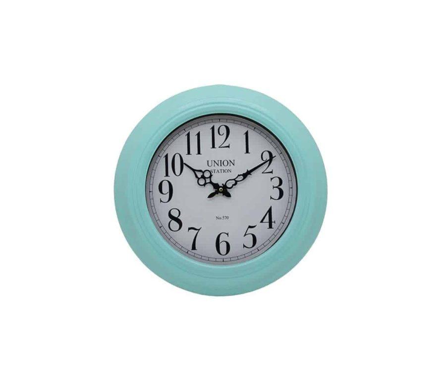 שעון קיר תכלת