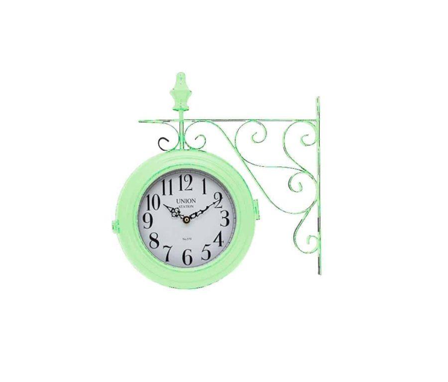 שעון רכבת ירוק מנטה