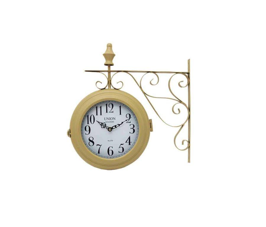 שעון רכבת בצבע בז'