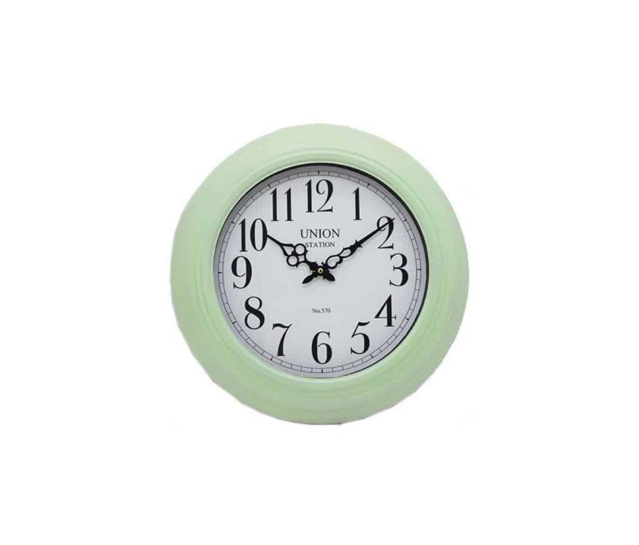 שעון קיר ירוק מנטה