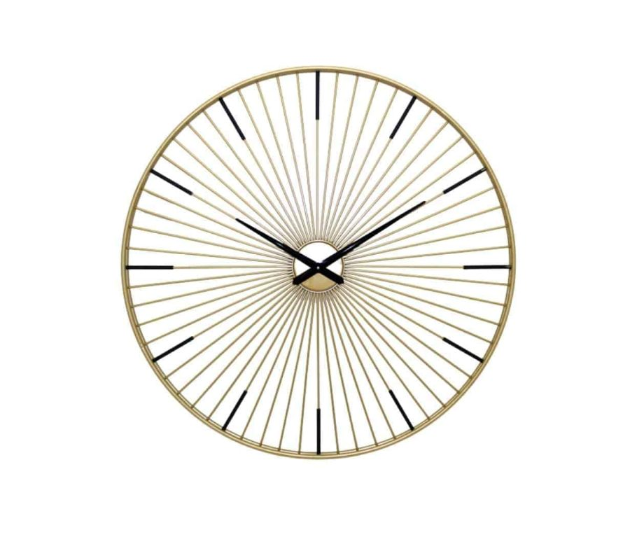שעון מודרני מעוצב בצבע זהב