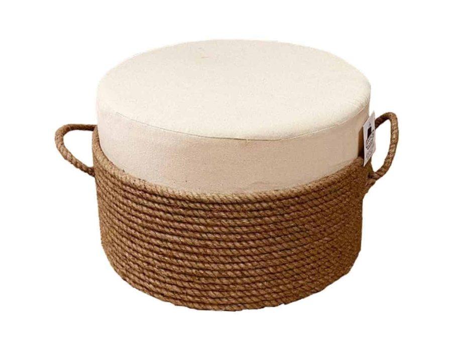 הדום חבל עם כרית וידיות בסגנון בוהו שיק כפרי