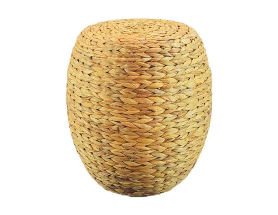 הדום קש אובלי בסגנון בוהו שיק כפרי
