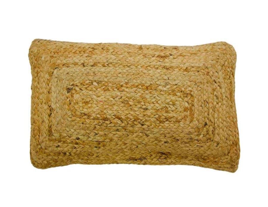 כרית חבל בסגנון כפרי בוהו שיק - מלבן