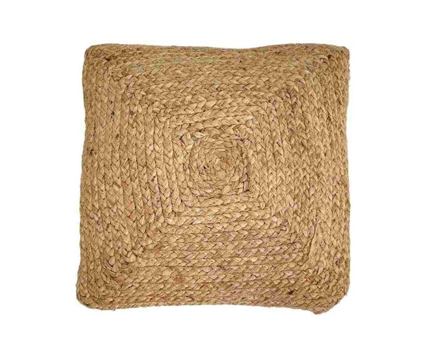 כרית חבל בסגנון כפרי בוהו שיק ריבוע
