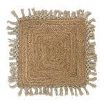 כרית חבל עם פרנזים בסגנון כפרי בוהו שיק דגם שקד