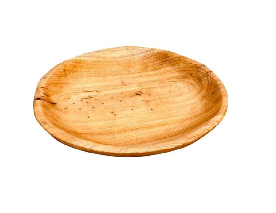 מגש עץ אגוז עגול 21