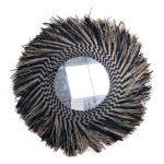 מראת קש טבעי בסגנון כפרי בוהו שיק - דגם עדן שחור