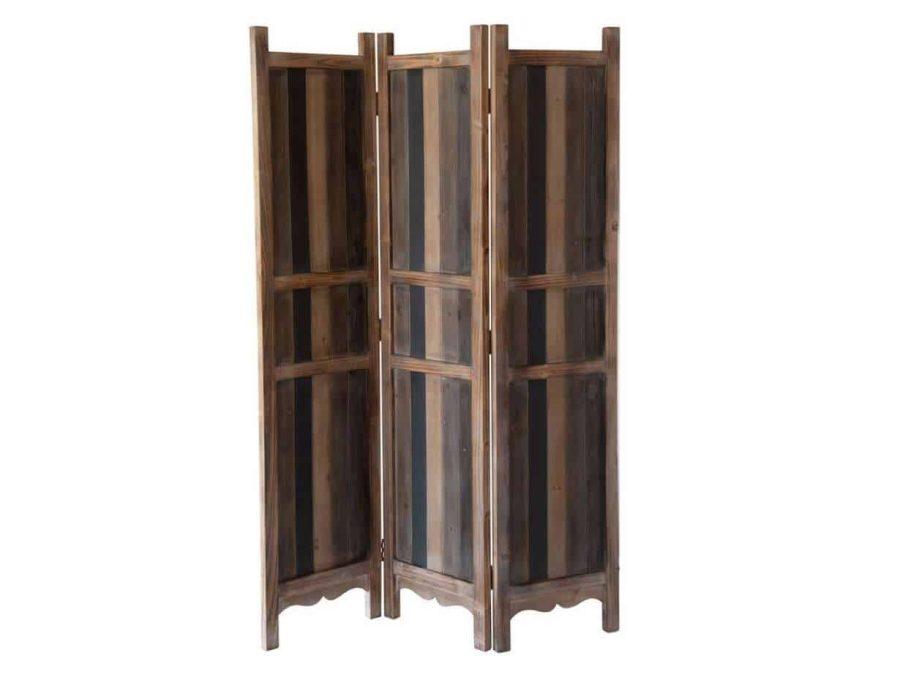 פרגוד עץ טבעי משולב ברזל