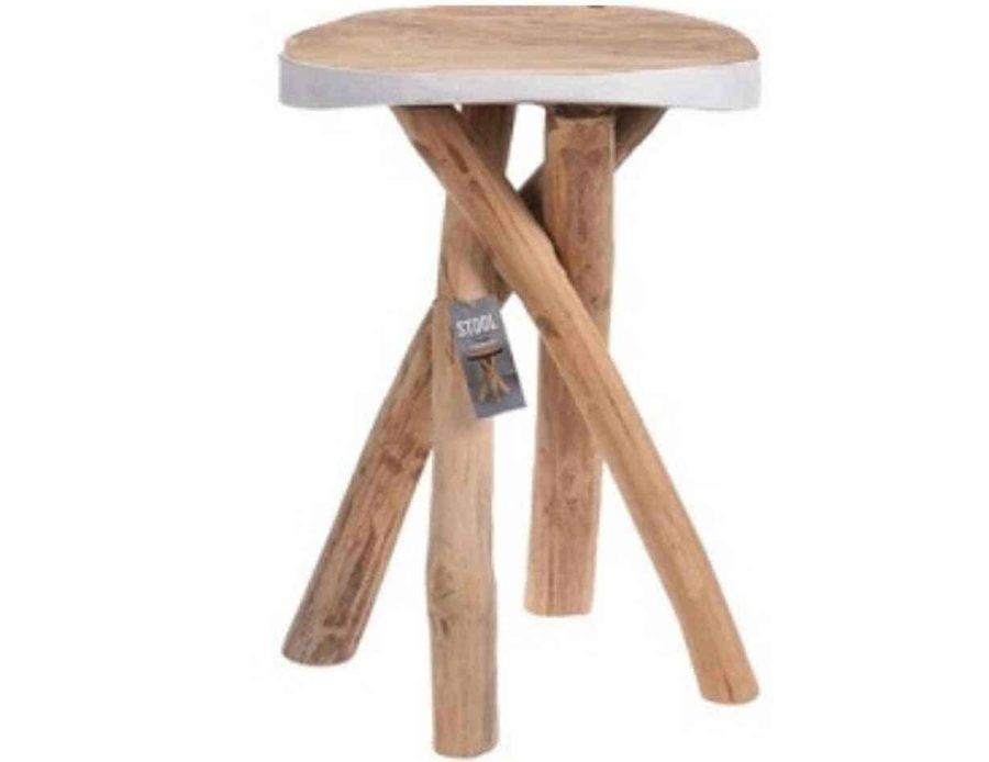 שולחן עץ מינדי עץ טיק לבן