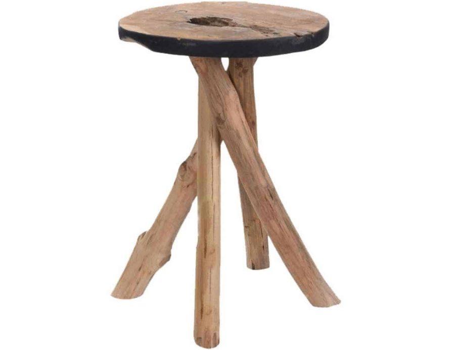שולחן עץ רגליים שלובות