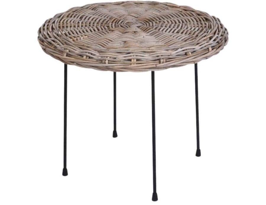 שולחן ראטן בסגנון בוהו שיק כפרי