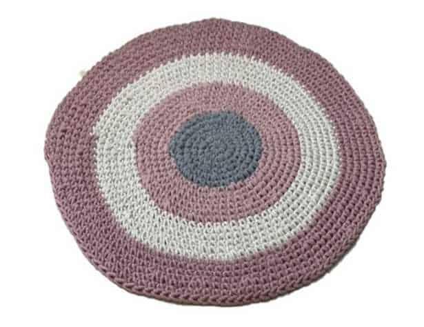 שטיח חמסה עגול בצבע ורוד
